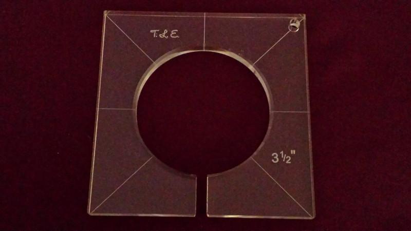 Inside Circle Template, 3-1/2 inch diameter