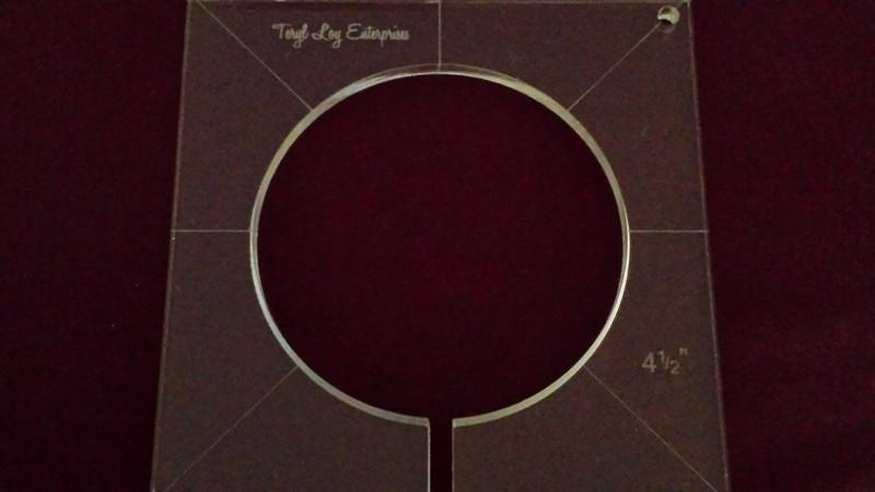 Inside Circle Template, 4-1/2 inch diameter