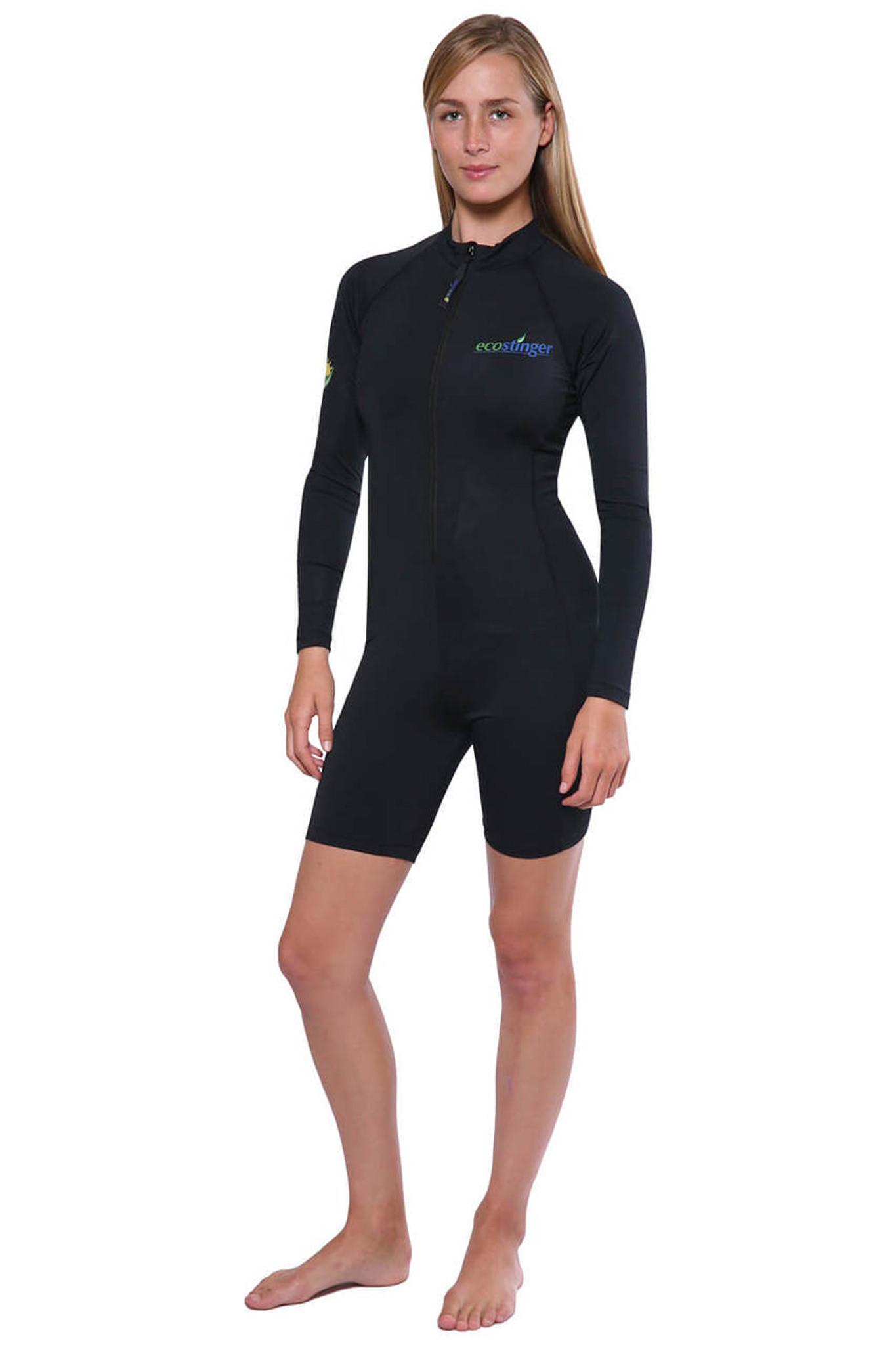 Women Sunsuit Bodysuit Long Sleeves Uv Protection Swimwear