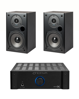 Sistema 2.0 Emotiva A-100 + Polk Audio T15 HiFi