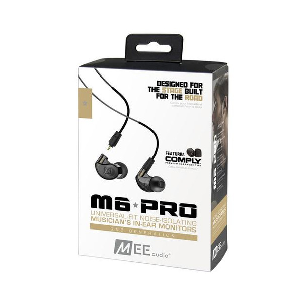 Mee Audio M6 Pro 2da Gen - Cable Intercambiable Handsfree (Negro)