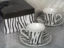 Stylish Espresso Coffee Collection Striped