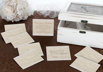 Country Lace Guest Cards Set of 48