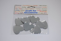 Pack of 8 Mirror Hearts