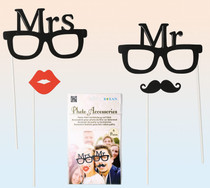 Mr. And Mrs. Party Photo Props