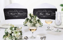Chair Sash Set Maid of Honor And Best Man