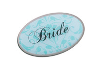 Bride Pin Oval Aqua