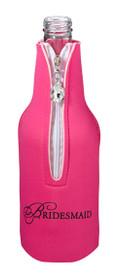 Bridesmaid Bottle Cozy Pink