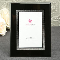 Black Glass Frame With Silver