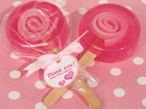 Sweet Treats Pink Lollipop Soap Favour