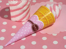 Sweet Treats Collection Strawberry Swirl Ice Cream Cone Towel Favour