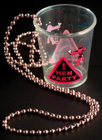 Hen Night Shot Glass On Pink Beads