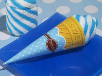 Sweet Treats Collection Blueberry Swirl Ice Cream Cone Towel Favour
