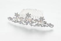 Rhinestone Flower Comb