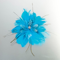 Feather Hair Clip Aqua