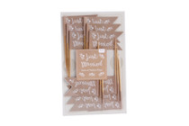 Pack of 12 'Just Married' Flags