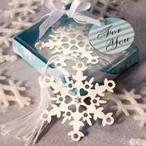 Snowflake Bookmark Favours