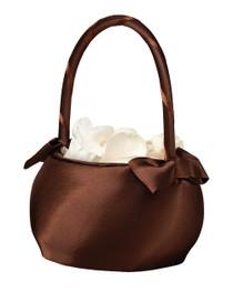Brown Satin Wedding Basket