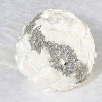 Pearl Rhinestone Bouquet Cream
