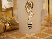 Murano Art Deco Swirl Design Stopper Gold And White