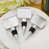 Perfectly Plain Collection Epoxy Dome Chrome Metal Finish Bottle Stopper