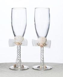 Seaside Ivory Toasting Glass