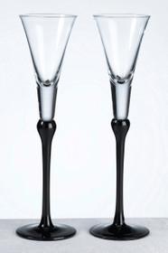 Set of Tall Flutes Black