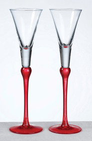 Set of Tall Flutes Red