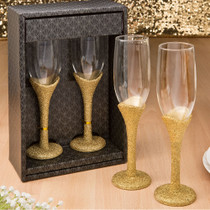 Golden Elegance Collection Set of 2 Toasting Glasses