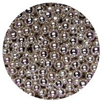 1kg Silver Sugared Balls 4mm