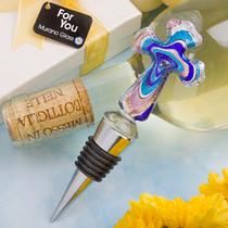 Murano Collection Cross Design Bottle Stopper