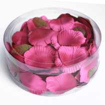 Satin Rose Petals Fuchsia