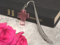 Blessed Events Pink Cross Bookmark