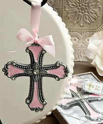Pink Cross Ornaments