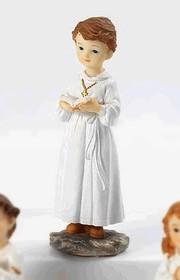 Resin Communion Boy Ornament Height 12cm