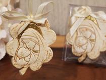 Hanging Flower Design Madonna Ornament