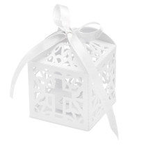Pack of 10 Favour Box Laser Cross