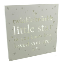Bambino Light Up MDF Wall Plaque Twinkle Twinkle