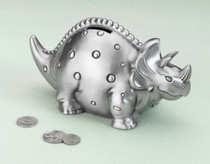 Dinosaur Pewter Bank