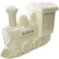 Bambino By Juliana Ceramic Money Bank Train With Crystals