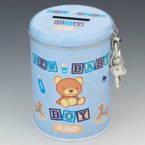 New Baby Boy Fund Tin