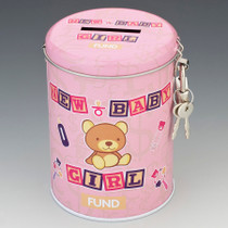 New Baby Girl Fund Tin