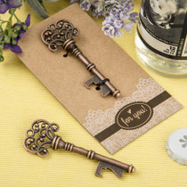 Copper Skeleton Key Bottle Opener With A Heavy Kraft Paper Backer Card