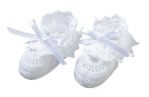 White Crocheted Booties