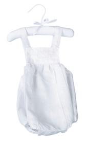 White Baby Romper 0-6 Months