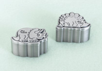 Pair of Dinosaur Pewter Tooth And Curl Boxes