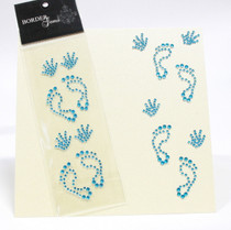 Gem Borders Baby Boy Hand And Foot Prints