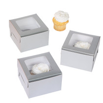 12 x Silver Single Cupcake Box