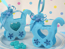 Adorable Blue Baby Carriage Bag Holder