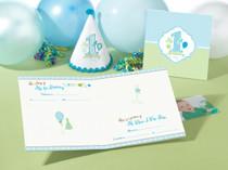 1st Birthday Memory Book Blue